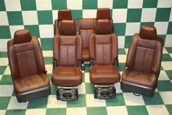 07-14 Expedition King Ranch Leather Heated Cooled Front Captain 2nd 3rd Row Seat