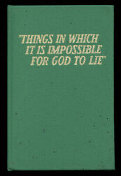 Watch Tower Bible / Things In Which It Is Impossible For God To Lie 1965