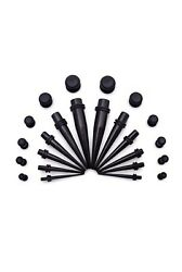 24 Piece Ear Stretching Kit Acrylic Tapers And Plugs Size 8 Gauge -00 Gauge
