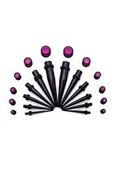 24 Piece Ear Stretching Kit Acrylic Tapers And Plugs Size 8 Gauge -00 Gauge Pink