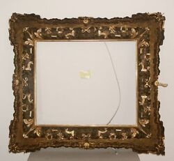 37x33 1/2in Painting Picture Frame Antique Impressionism Baroque Gold