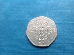 Very Rare 50p Coin 100 Years Of Girl Guiding With Royal Mint Errors