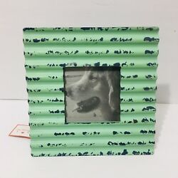 Recycled Metal Corrugated Frame Mint Green Foreside 77767 Farmhouse Rustic