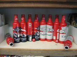 2 Budweiser California And 2 Joshua Tree 16 Oz Beer Bottle/cans W/ Twist Tops
