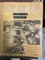 Vintage 1968 President Nixon Campaign Newspaper And Magazine Scrap Book Awesome