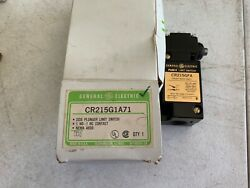 One 1 General Electric Cr215g1a71 Side Plunger Limit Switch 600 Vac Max, Nos