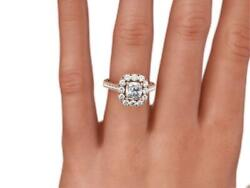 Vs1 D Natural 1.75 Ct Diamond Ring Halo Setting Accented 14 Karat Rose Gold Red