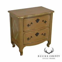 Woodland Furniture Custom Painted French Country Style 2 Drawer Chest Nightstand