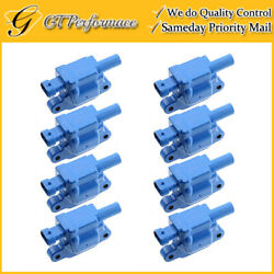 Oem Quality Ignition Coil 8pcs For Lacrosse/ Cts/ Escalade/ Impala/ Envoy Blue