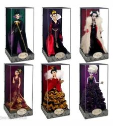 Disney Designer Villain dolls Complete set of 6 with bags