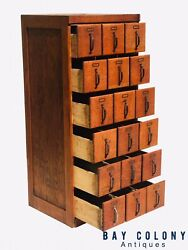 Early 20th C Antique Arts And Crafts / Mission Oak Industrial Index File Cabinet