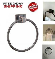 Small Bathroom Hand Towel Ring Oil Rubbed Bronze Rack Wall Mounted Hook Holder