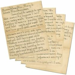 Helen KELLER  Four Page Autograph Letter Signed written to Michael Anagnos when