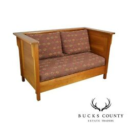Mission Style Studio Hand Crafted Cherry And Walnut Prairie Settee
