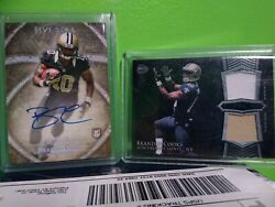 2014 Brandin Cooks Five Star Auto 16/25and Bowman Sterling Dual Relics Saints/rams