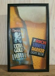 Vintage 1992 Coors Brewing Co. Plastic Lighted Sign Extra Gold Light Man Cave