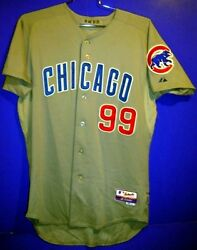 Chicago Cubs Corey Miller Gray 99 Button-down Game Worn Size 44 Mlb Jersey