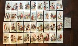 36 Different The Singer Manufacturing Co. Advertising Cards + Box Wl5336 Rare