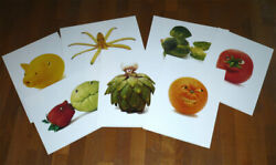 Lot 7 Poster Affiche Play With Your Food - Freymann And Elffers 30 Cm X 40 Cm Neuf