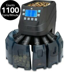 Euro Coin Money Counter Sorter Machine Cash Currency Counting Automatic Zzap