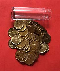 Egypt-1984-uncirculated 1 Piastre Roll 50 Coins ....good Opportunity.