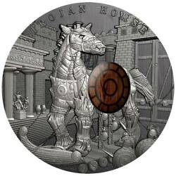 2016 Trojan Horse Ancient Myths 2 Oz Silver Coin 10 Niue - Limited Mintage 500