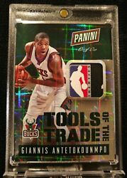 2014-15 Panini Tools of the Trade GIANNIS ANTETOKOUNMPO LOGOMAN NBA Logo Tag 1/1