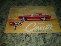 1964 Original 2nd Edition Corvette Owners Manual With Full Corvette News Card