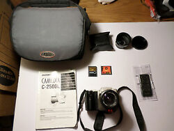 Olympus C-2500l Camera And 1.45x Teleconverter Lens - New Wireless Remote - Bag
