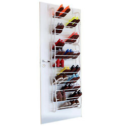 Over The Door Shoe Rack for 36 Pair Wall Hanging Closet Organizer Storage Stand