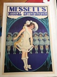 Messettandrsquos Musical Entertainers American Vintage Poster Dancing Girls Ca 1925