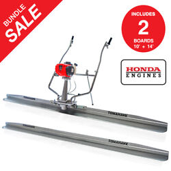Power Screed Honda Gx35 14 Ft And 10 Ft Blades Bull Float Concrete Finishing Tool
