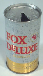 Vintage Fox Deluxe Beer 12oz Can Straight Steel Cold Spring Minnesota