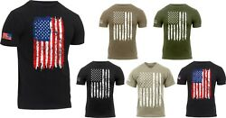 Mens US Flag Athletic T Shirt Tactical Muscle Distressed American Patriotic Tee