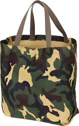 Camo Tote Shopping Bag Shoulder Canvas Reusable Grocery Carry All Military Army $9.99