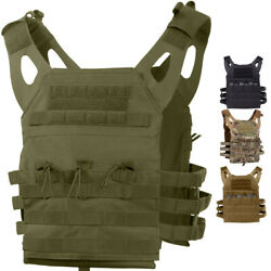 Tactical Plate Carrier Vest - Lightweight Military Army MOLLE Mag Assault System $50.99