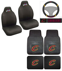 7pc Nba Cleveland Cavaliers Car Truck Floor Mat Seat Covers Steering Wheel Cover