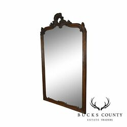 Louis Philippe Rococo Carved Large Antique Oak Frame Mirror
