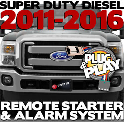 Plug-n-play Remote Starter And Alarm System For 2011-2016 Ford Super Duty Dieseland039s