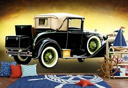 3d Retro Vehicle A19 Transport Wallpaper Mural Self-adhesive Removable Zoe