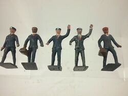 14 Various Authentic Lincoln Logs Lead Metal Toy Figurines Lot
