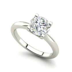 4 Claw Solitaire 1.25 Carat Vs2/d Round Cut Diamond Engagement Ring White Gold