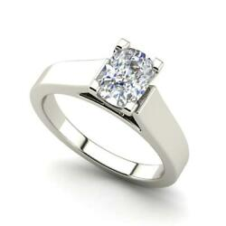 Cathedral 1.5 Carat Si1/d Oval Cut Diamond Engagement Ring White Gold