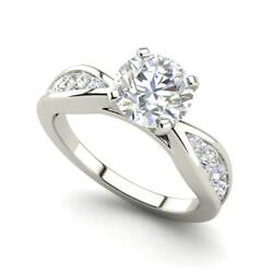Channel Style 1.45 Carat Vs2/f Round Cut Diamond Engagement Ring White Gold