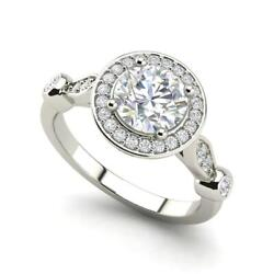 Halo Solitaire 1.95 Carat Vs1/h Round Cut Diamond Engagement Ring White Gold