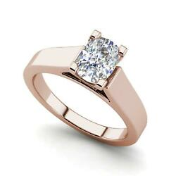 Cathedral 0.9 Carat Vs1/d Oval Cut Diamond Engagement Ring Rose Gold