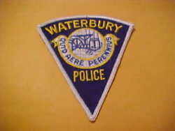 Waterbury Connecticut Police Patch Shoulder Size Unused Type 3