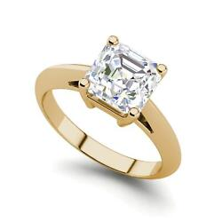 Solitaire 1.25 Carat Si1/d Cushion Cut Diamond Engagement Ring Yellow Gold