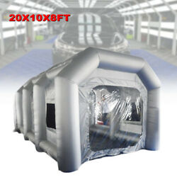 Spray Booth Inflatable Tent Car Paint Portable Cabin w/ Air Filter Nets 6x3x2.5m