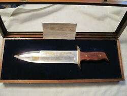 Harley Davidson Buck 85th Anniversary Knife/walnut Case/papers/2862 Of 3000 A